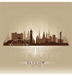 Glasgow Scotland skyline city silhouette vector image vector image