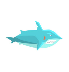great white shark marine fish living in warm sea vector image