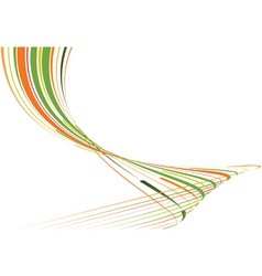green and orange bent lines vector image