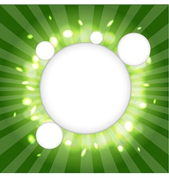Green Web Cloud vector image vector image