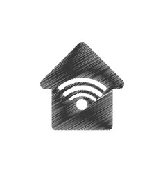 home web wifi connection vector image