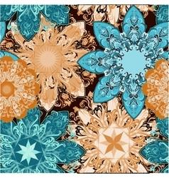 mandala seamless pattern 3 vector image
