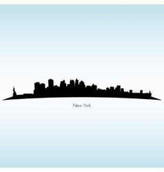 New york silhouette skyline vector
