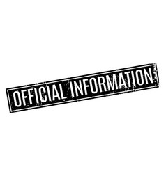 official information rubber stamp vector image