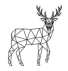 polygonal deer vector image vector image