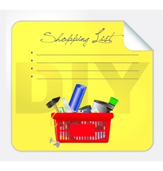 post-it shopping list vector image vector image