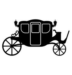 royal carriage for transportation of people black vector image