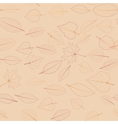 Seamless color leaves pattern plus EPS10 vector image