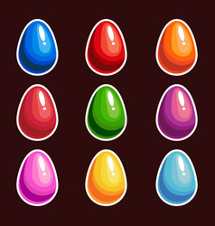 set of cartoon colorful eggs vector image vector image