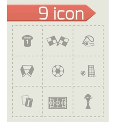Soccer icon set vector image