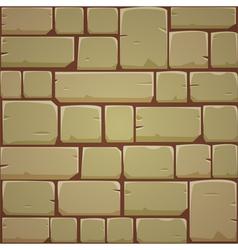 Stone block wall - yellow vector