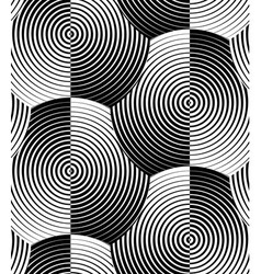 Striped shells black white seamless pattern vector
