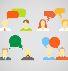 talking people vector image vector image