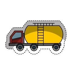 Tank car isolated icon vector image vector image
