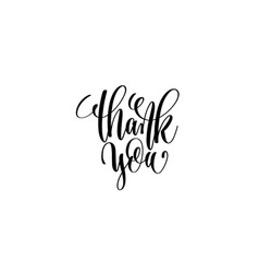thank you hand lettering written inscription vector image