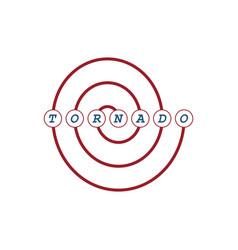 tornado storm emblem vector image