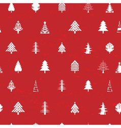 white christmas tree pattern vector image