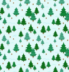 Winter forest pattern vector