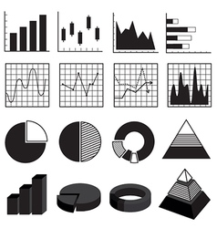 Graphs charts bars and diagrams data element set vector