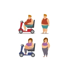 Fat cartoon people different stages vector