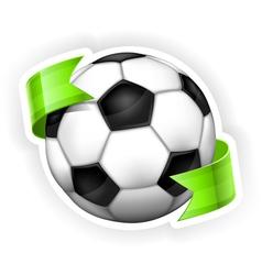 ball green ribbon 10 v vector image