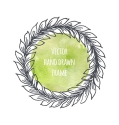 Hand drawn wreath set made in  leaves vector