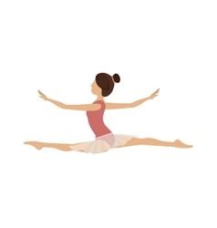 Colorful dancer dancer position spear vector