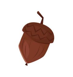 cartoon style of acorn vector image
