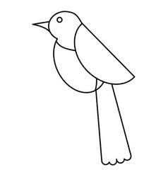 Bird dove fauna fly icon thin line vector