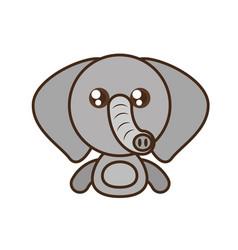 elephant baby animal kawaii design vector image