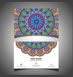 Colourful business card vector