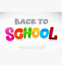 Colorful back to school calligraphy title texts vector