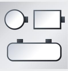 blank signboard set vector image