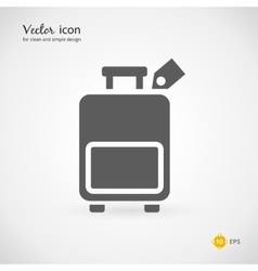 Gray suitcase or luggage graphic design vector