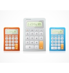 Colorful calculator set vector