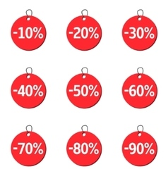 Red price icons vector