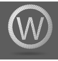 The letter w polygonal letter abstract creative vector