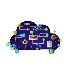 Web cloud services vector
