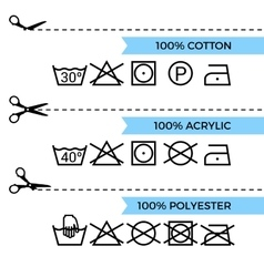 Guide to laundry care symbols vector
