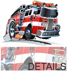 Cartoon Firetruck vector image