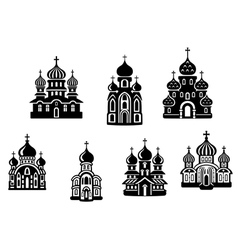 Churches and temples vector