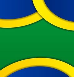 Abstract background in brazil flag colors vector