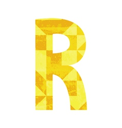 Abstract color alphabet R vector image