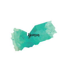 Abstract yemen map vector