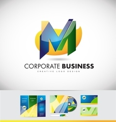Alphabet letter m logo icon design vector