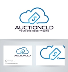 Auction Cloud vector image vector image