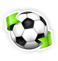 Ball green ribbon 10 v vector