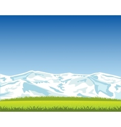 Beautiful landscape with mountain vector image vector image