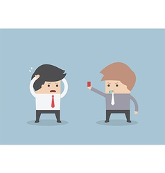 Businessman get fired vector image