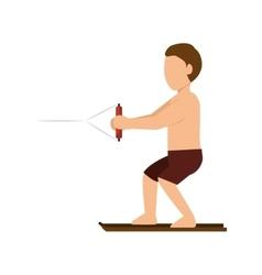 Cartoon man surfing vector